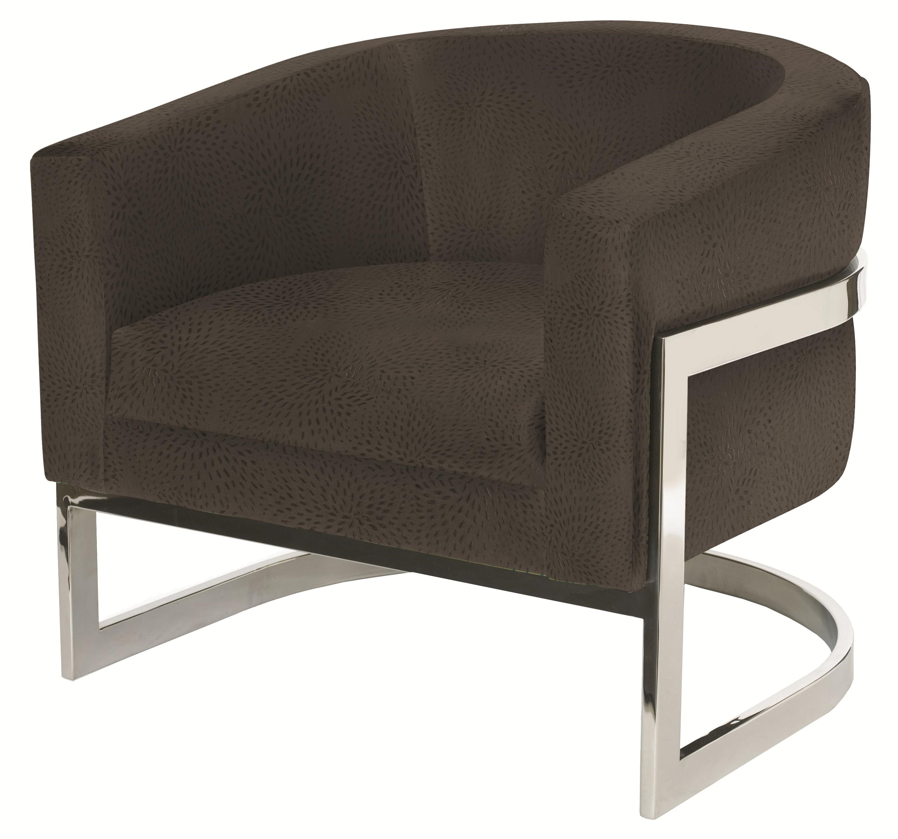 Gentil Bernhardt Upholstered Accents Callie Chair With Metal Legs And Modern Barrel  Chair Style