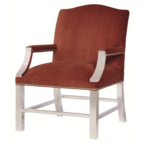 Bernhardt Upholstered Accents Transitional Jace Chair with Metal Base