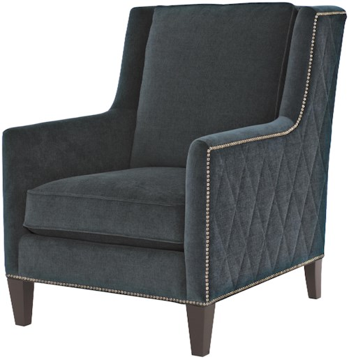 Bernhardt Upholstered Accents Almada Chair with Nail Head Trim