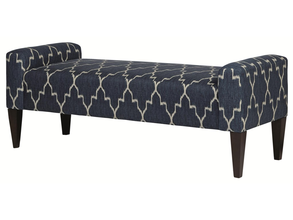 Bernhardt Upholstered Accents Sudbury High End Accent Bench In Transitional Furniture Style