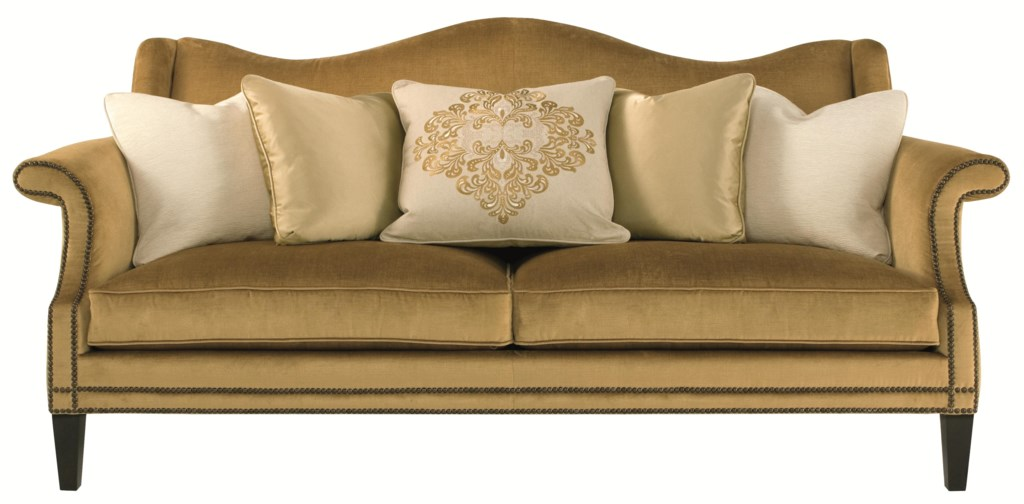 Bernhardt Upholstered Accents Fitzgerald Sofa with Camel Back and