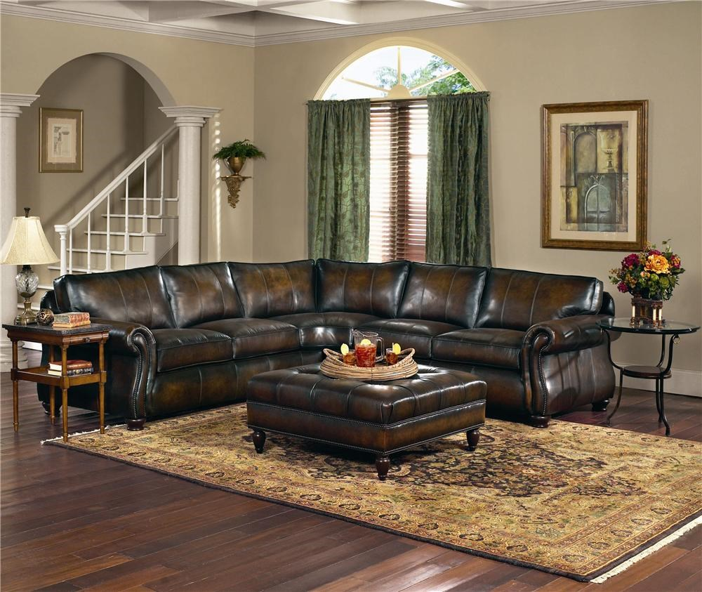 Beau Bernhardt Van Gogh Leather Sectional Group