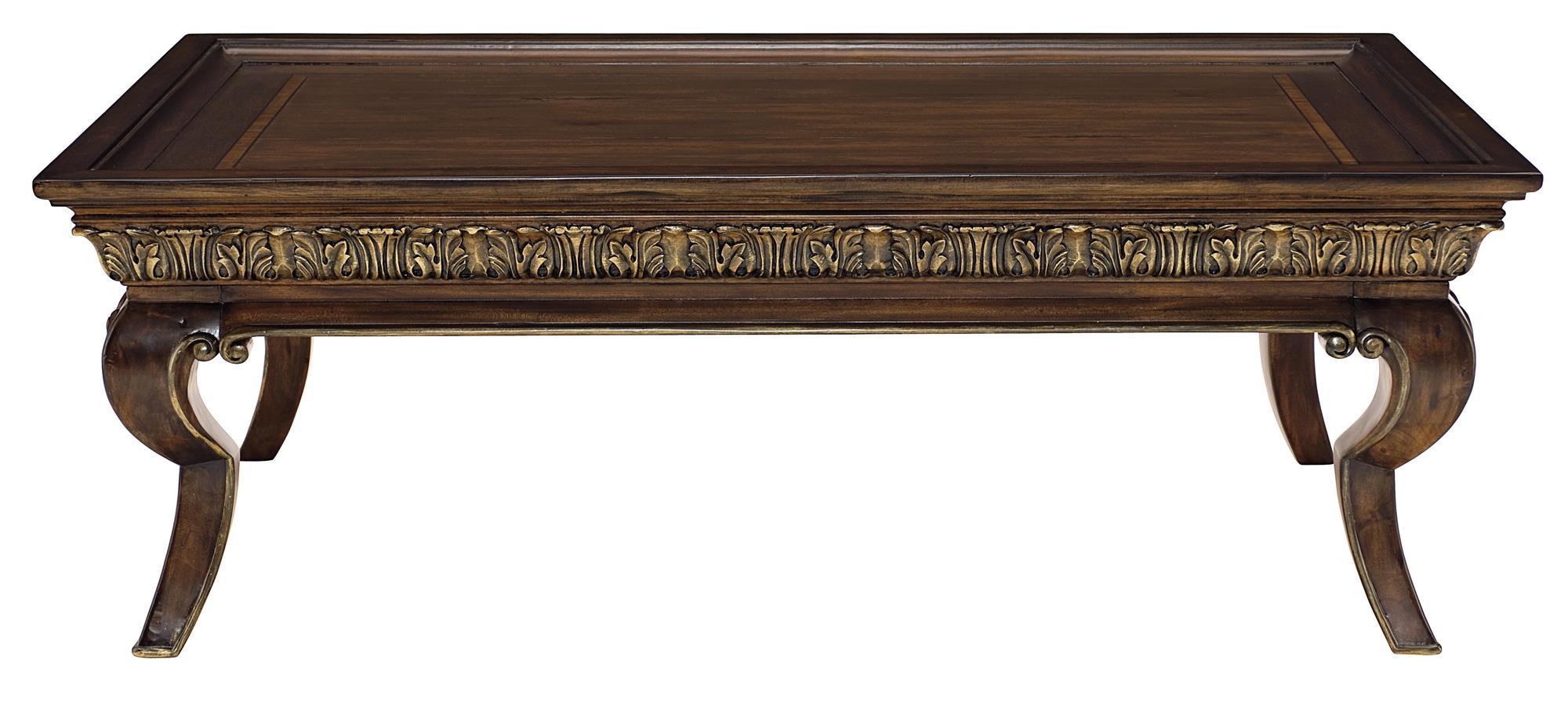 Bernhardt Villa Medici 355 022 Cocktail Table With Carved Frame