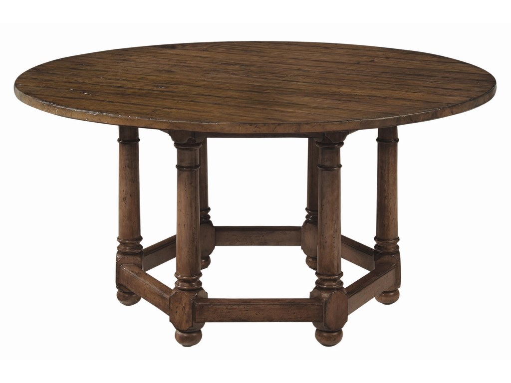 Bernhardt Vintage Patina 62 Round Dining Room Table