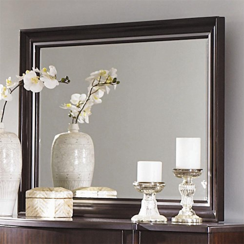 Bernhardt Westwood Contemporary Beveled Mirror