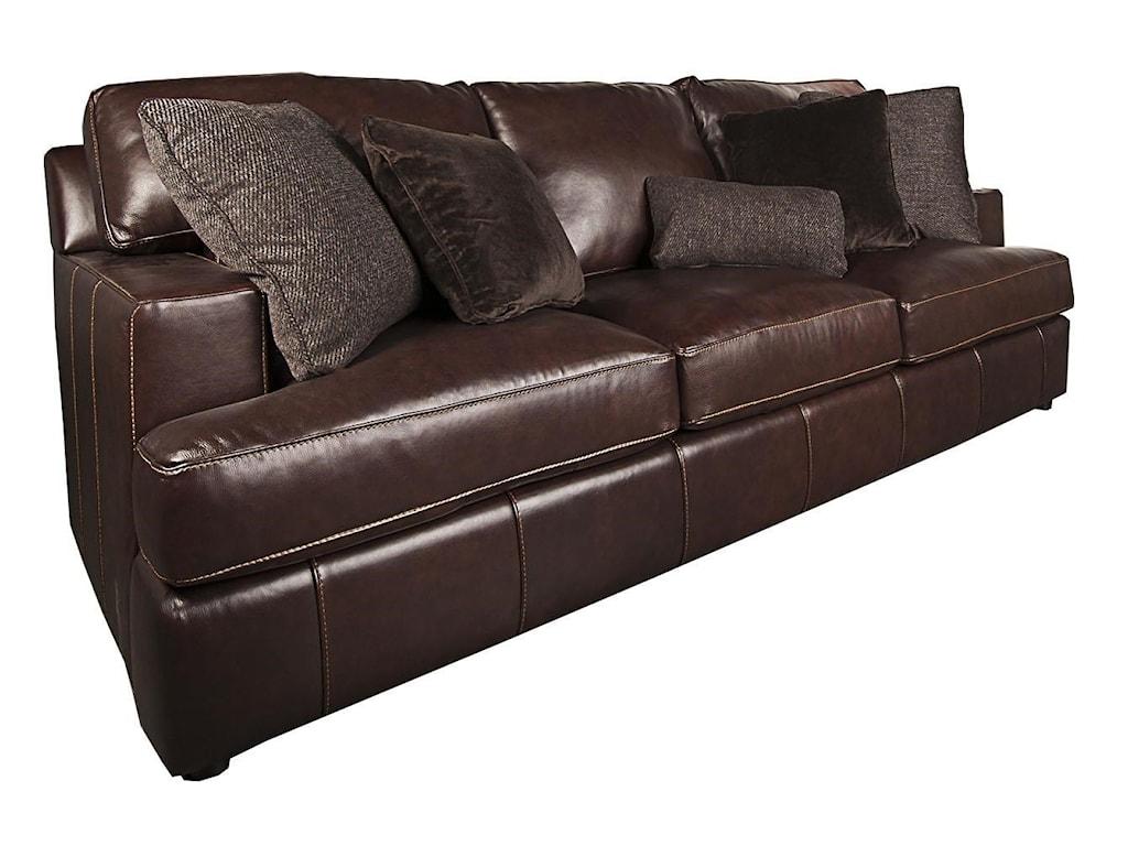 Winslow 100% Leather Sofa by Bernhardt - Bernhardt Winslow 100% Leather Sofa - Morris Home - Sofas