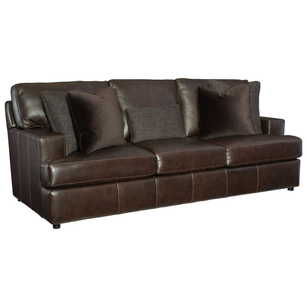 Bernhardt Winslow Leather Sofa With Spring Down Cushions Adcock