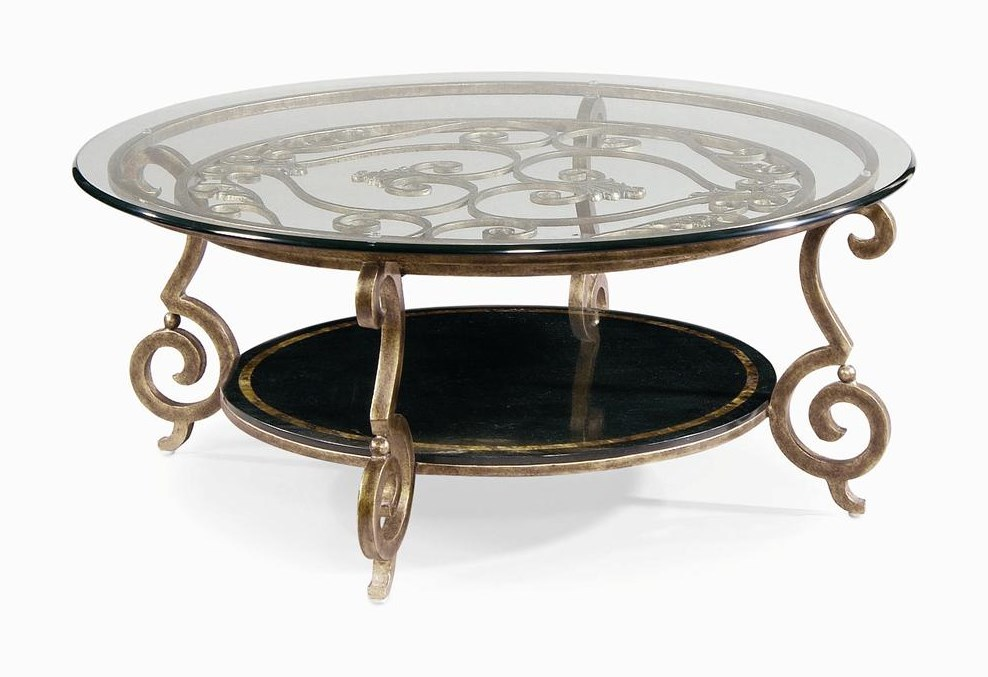 Bernhardt ZambranoRound Cocktail Table Base & Glass Top