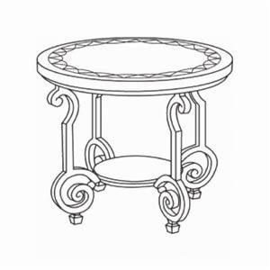 Bernhardt ConneryRound End Table