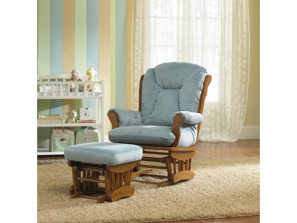 Best Chairs Storytime Series Storytime Glider Rockers and OttomansManuel Chair and Ottoman Set