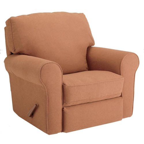 Best Chairs Storytime Series Storytime Recliners Irvington Power Rocker Recliner with Large Rolled Arms