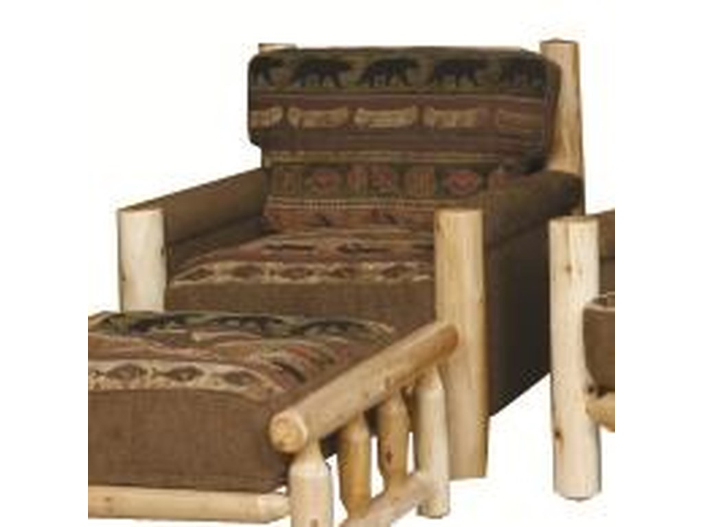 Best Craft Lodge Rustic Exposed Log Chair   A1 Furniture ...