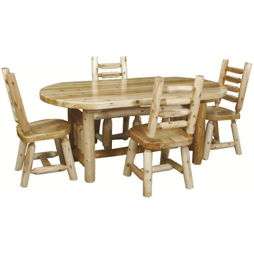 Best Craft Lodge  5-Piece 6' Dining Table & Chair Set