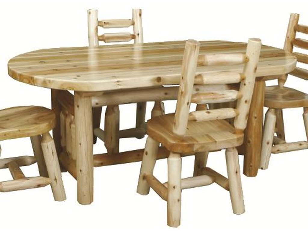 Best Craft Lodge 6 Rustic Oval Dining Table A1 Furniture