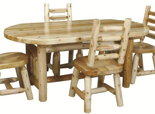 Best Craft Lodge 6u0027 Rustic Oval Dining Table