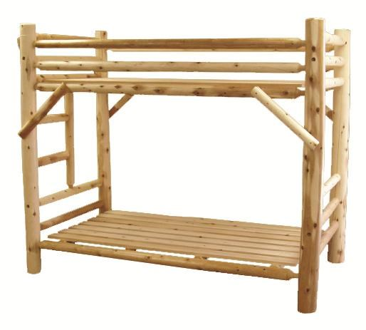 Best Craft Lodge Twin/Twin Rustic Bunk Bed