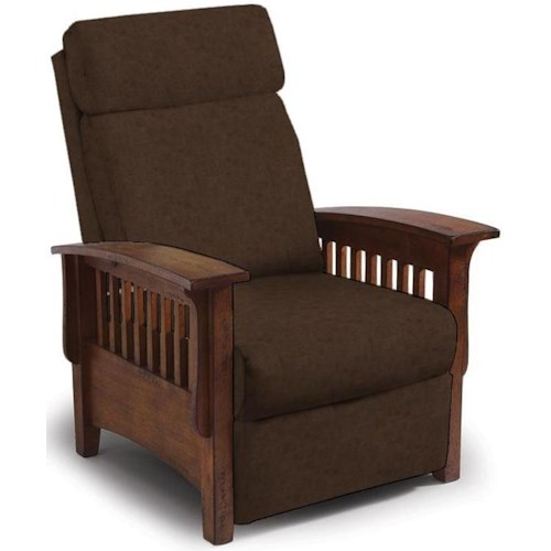 Best Home Furnishings Recliners - Pushback Sable Mission Recliner