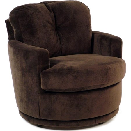 Swivel Chair w/ Plush Tufted Back