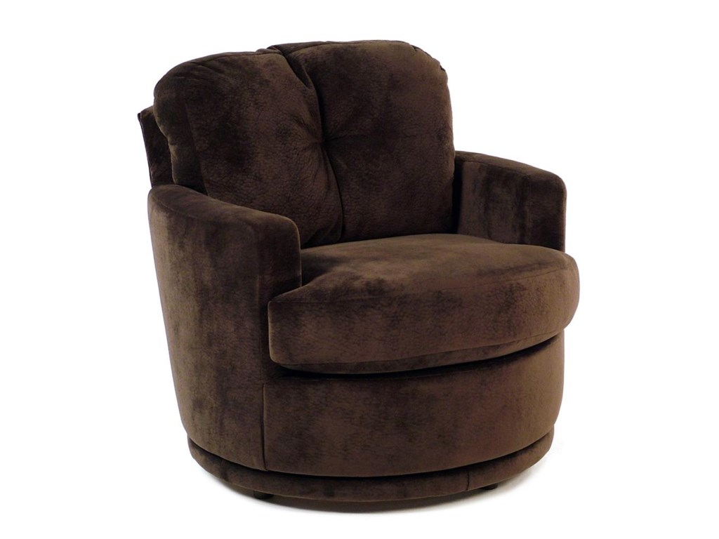 Chairs Swivel Barrel Swivel Chair W Plush Tufted Back Rotmans