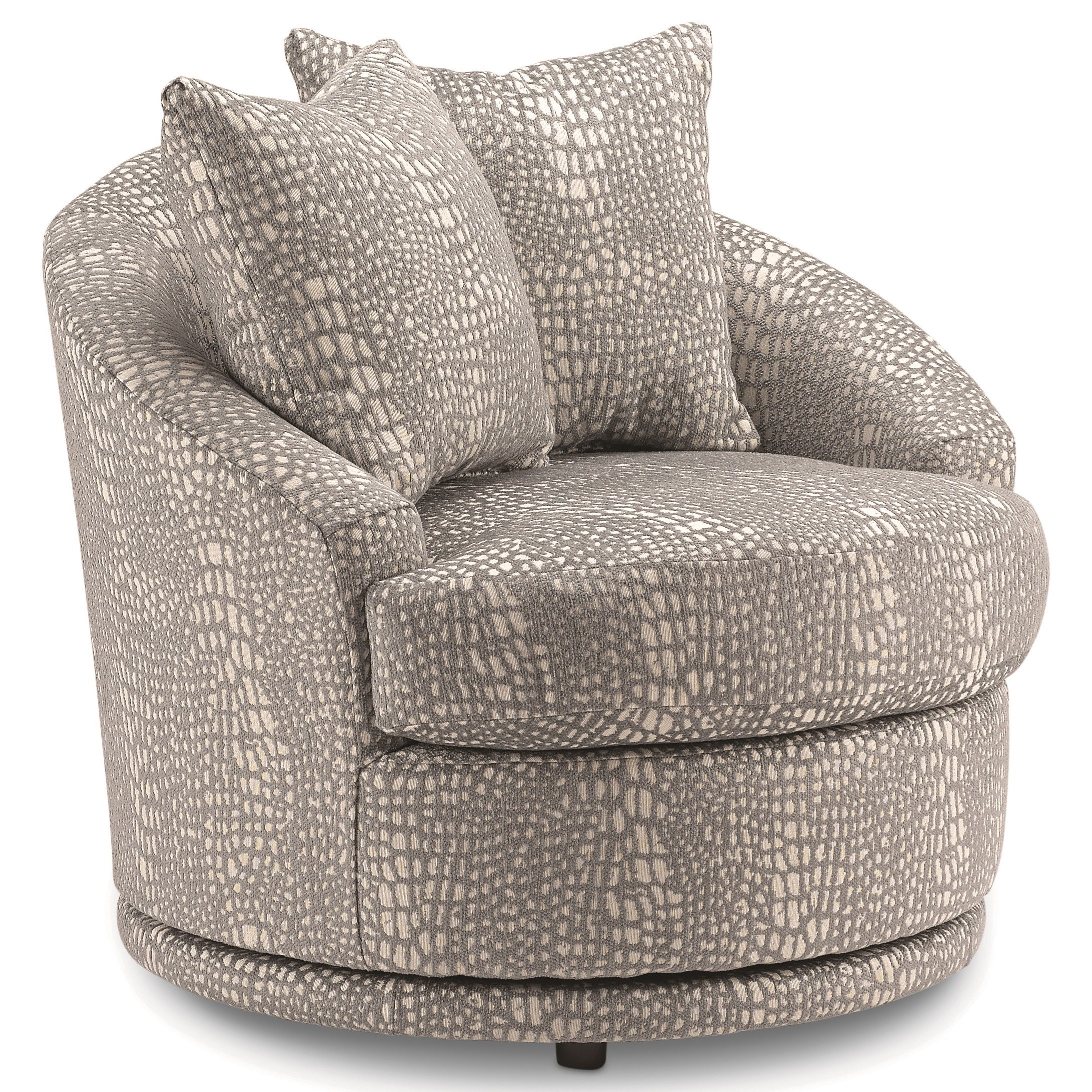 Alanna Contemporary Barrel Back Swivel Chair With 2 Toss Pillows By Best  Home Furnishings