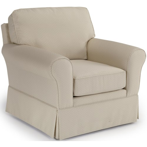 Best Home Furnishings Annabel  <b>Customizable</b> Traditional Chair with Rolled Arms and Skirted Base