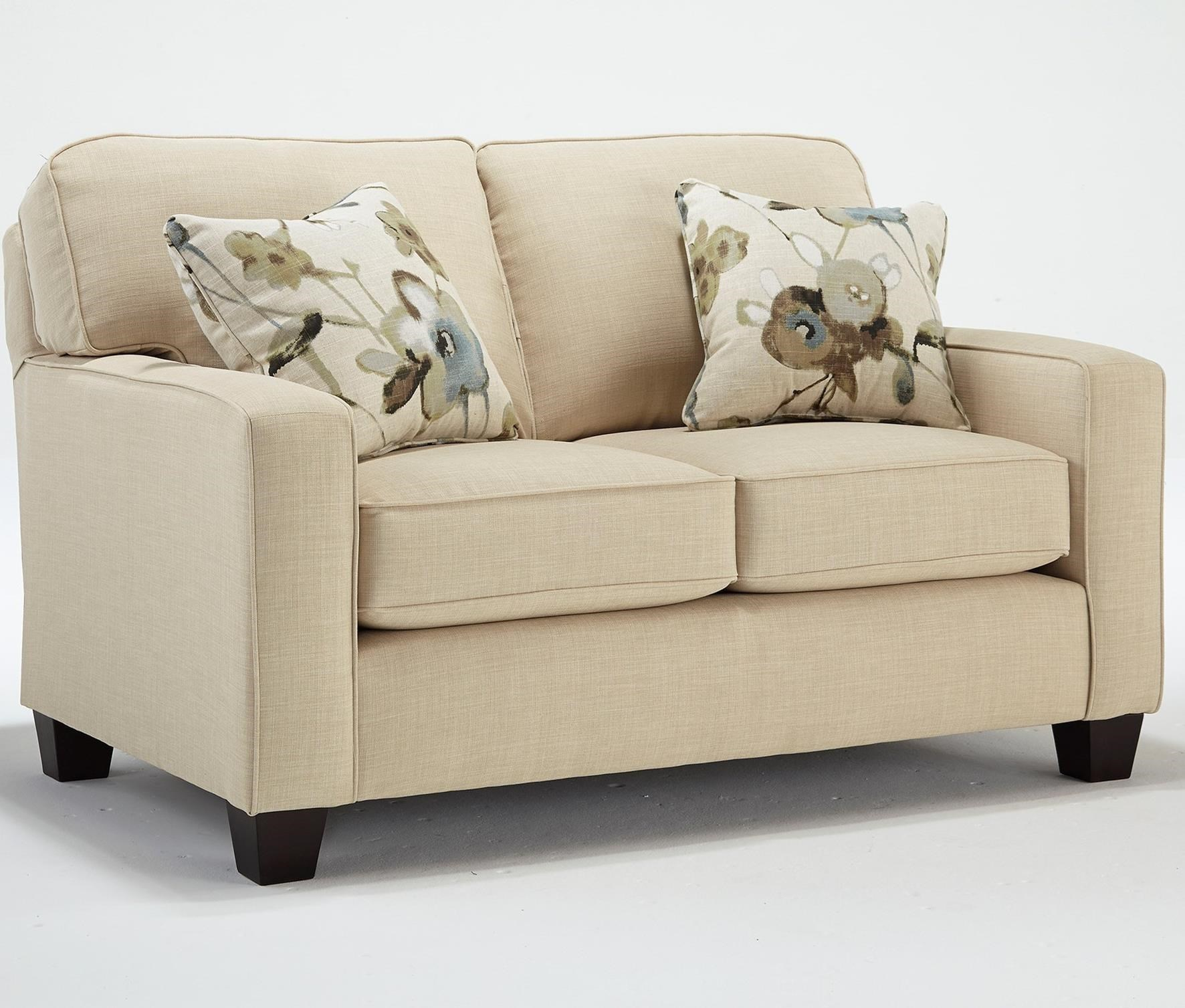 Customizable Loveseat with Track Arms