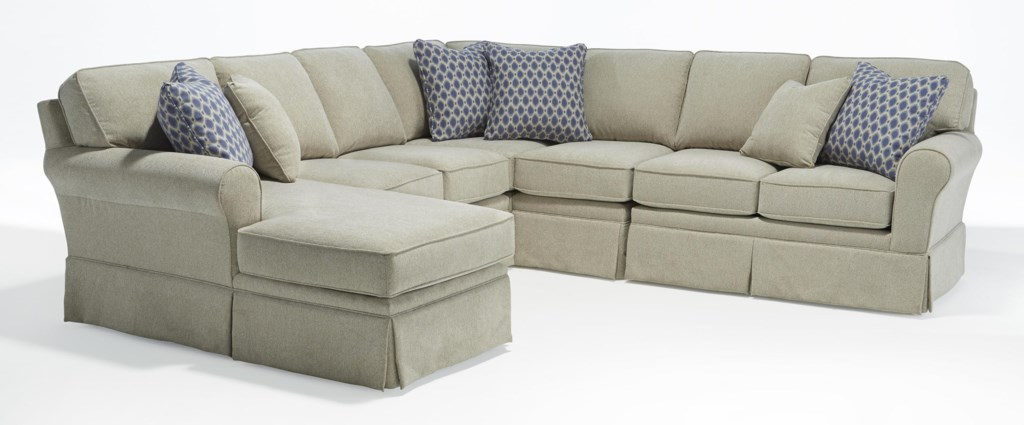 Studio 47 Annabel Five Piece Customizable Sectional Sofa With Sock