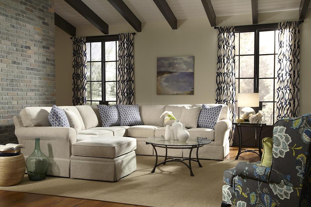 Studio 47 Annabel Five Piece Customizable Sectional Sofa With Sock  ~ Five Piece Sectional Sofa