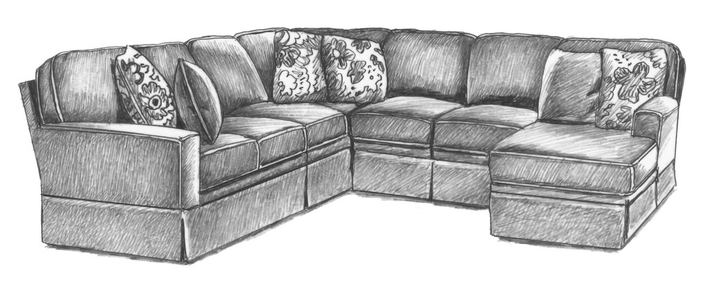 Best Home Furnishings Annabel Five Piece Customizable Sectional  ~ Five Piece Sectional Sofa