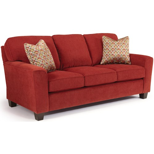 Best Home Furnishings Annabel  <b>Customizable</b> Transitional Sofa with Beveled Arms and Tapered Legs
