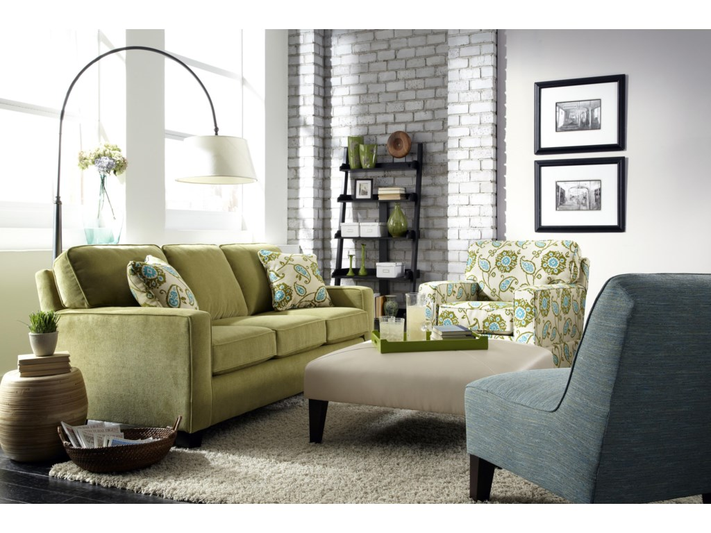 Shown with Custom Skirted Chair