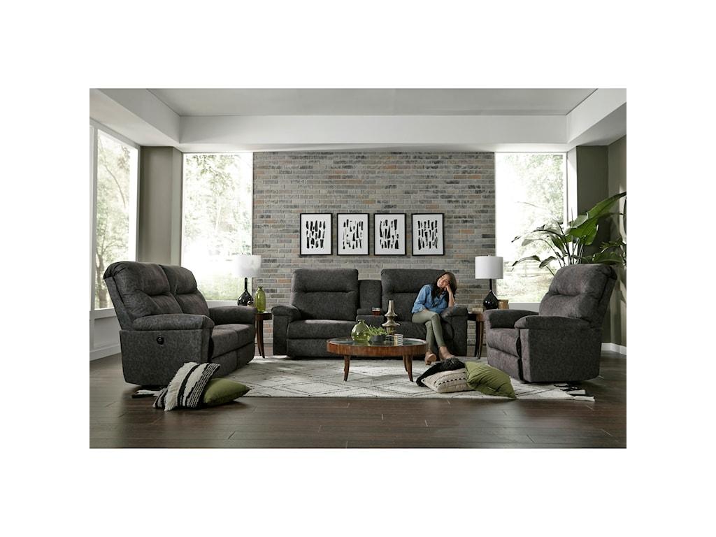 Best Home Furnishings BayleySpace Saver Reclining Loveseat