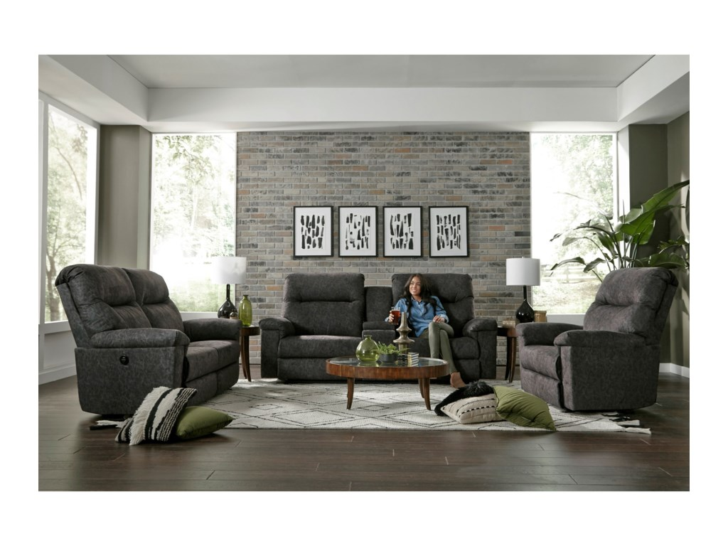 Best Home Furnishings BayleySpace Saver Power Reclining Loveseat