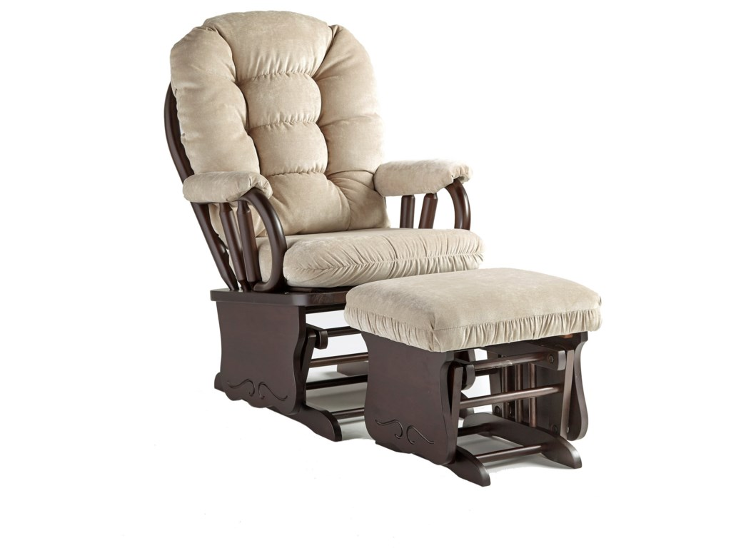 Best Home Furnishings BedazzleGlide Rocker w/ Lock and Ottoman