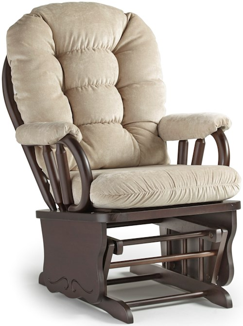 Best Home Furnishings Bedazzle Lock Glide Rocker with Tufted Back