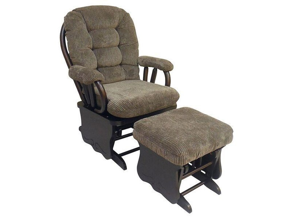 Best Home Furnishings BedazzleGlide Rocker and Ottoman