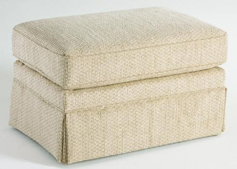 Upholstered Ottoman with Skirt