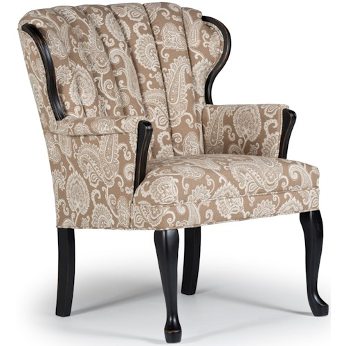 Best Home Furnishings Accent Chairs Prudence Exposed Wood Chair