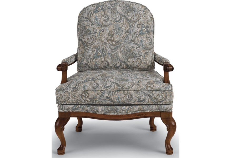 Accent Chairs.Best Home Furnishings Accent Chairs Cogan Exposed Wood Accent