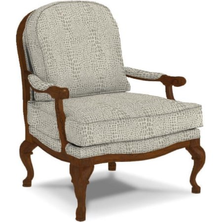 Cogan Exposed Wood Accent Chair