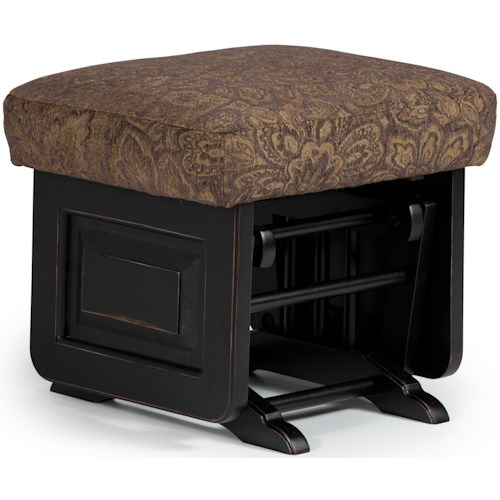 Best Home Furnishings Glider Rockers Delling Ottoman