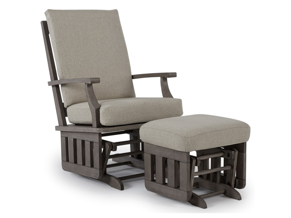 Best Home Furnishings Glider RockersGlide Rocker and Ottoman
