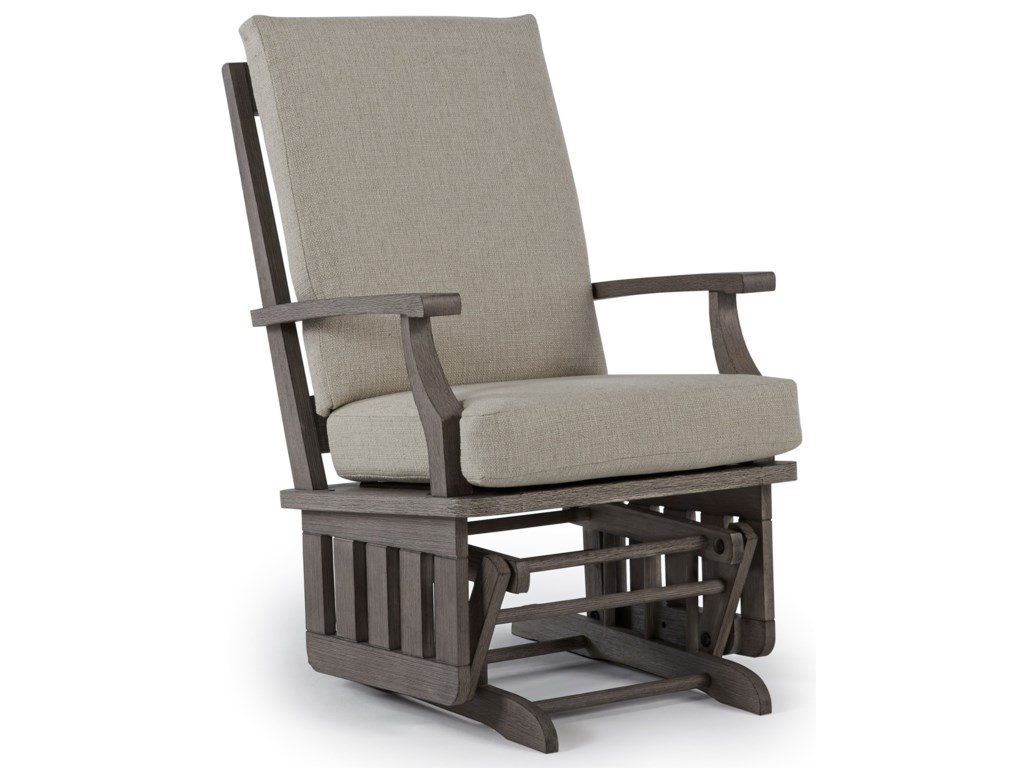 Glider rockers casual glide rocker with modern slat design by best home furnishings