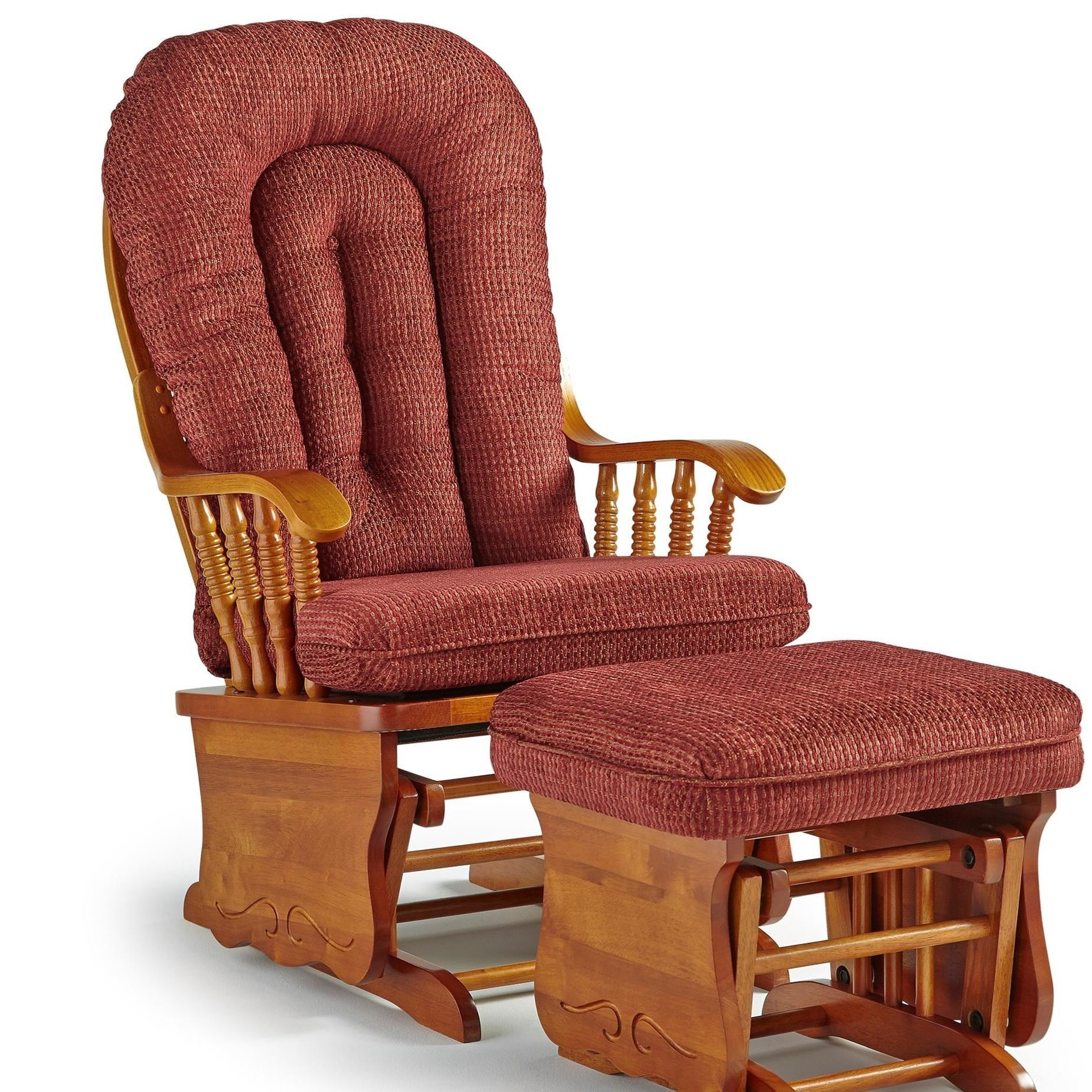 Glider rockers glider rocker recliner with ottoman from for Chaise dutailier