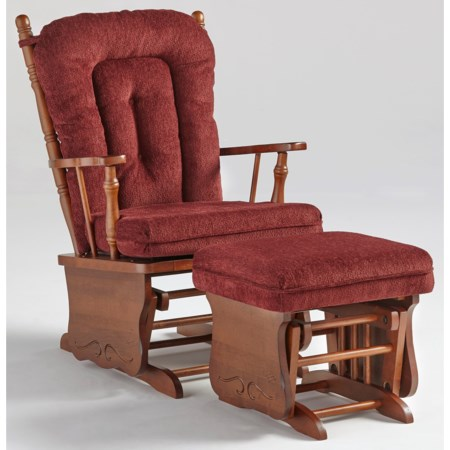 Knox Glider Rocker and Ottoman