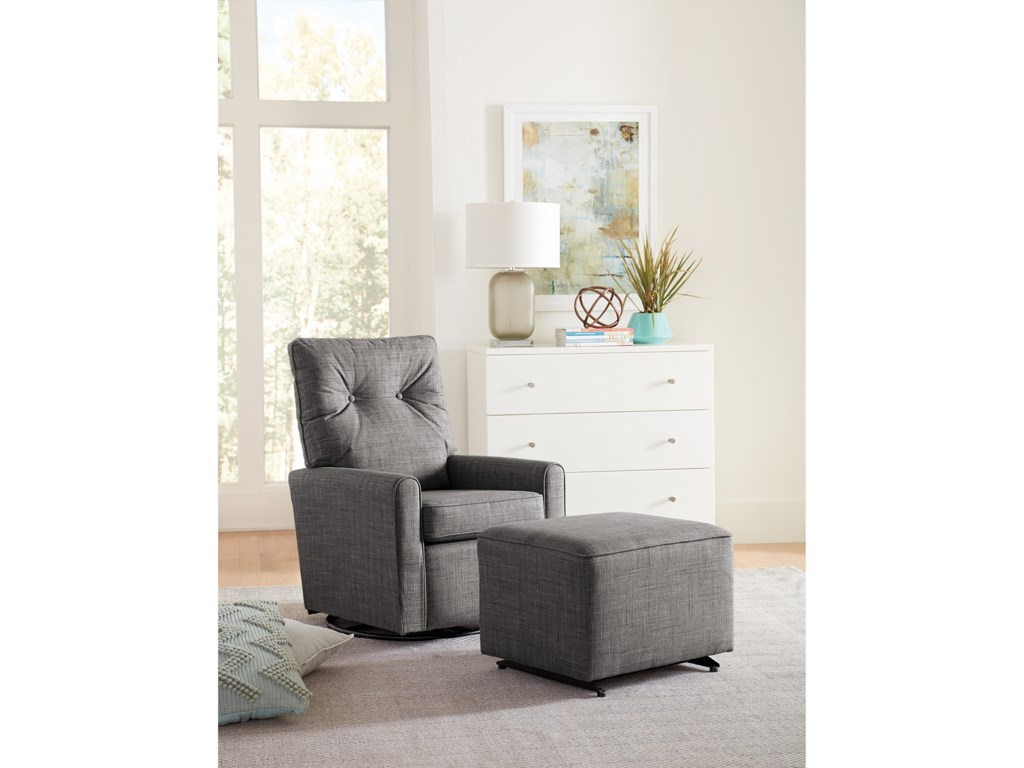 Best Home Furnishings Best Xpress - PhyliciaSwivel Glider Chair & Ottoman Set
