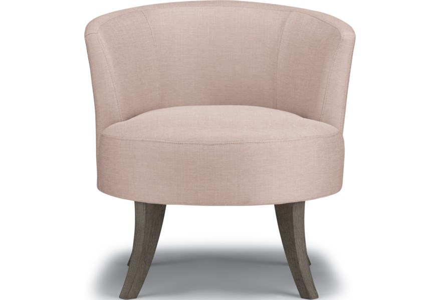 Best Home Furnishings Best Xpress Steffen Mid Century Modern Swivel Barrel Chair Rooms And Rest Upholstered Chairs