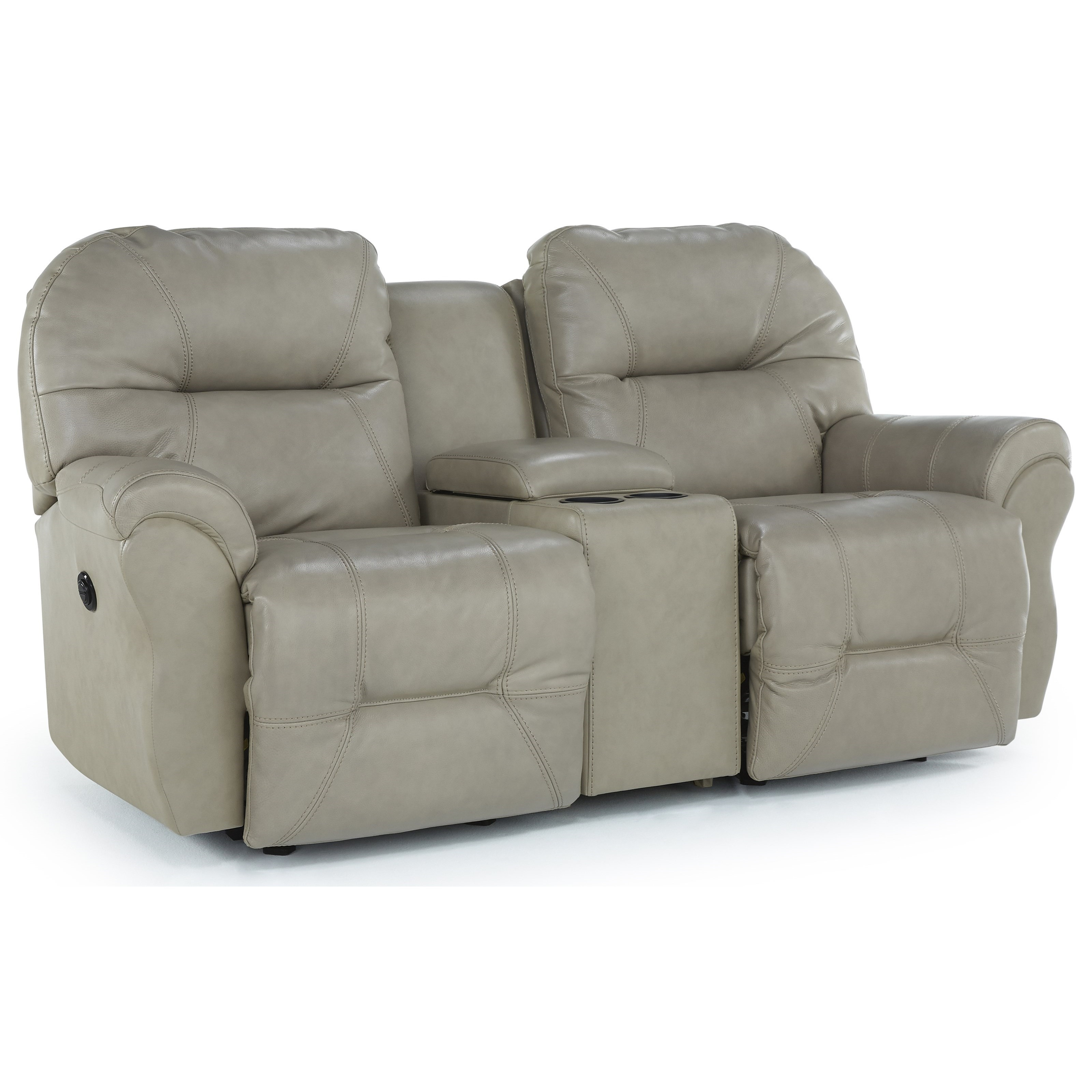 Best Home Furnishings Bodie Space Saver Reclining Loveseat With Storage Console Sheely S Furniture Appliance Reclining Loveseats