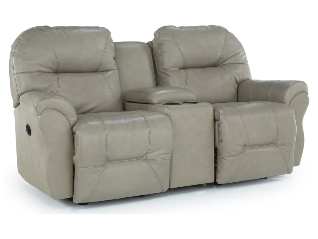 Best Home Furnishings Spartarocking Reclining Loveseat W Console