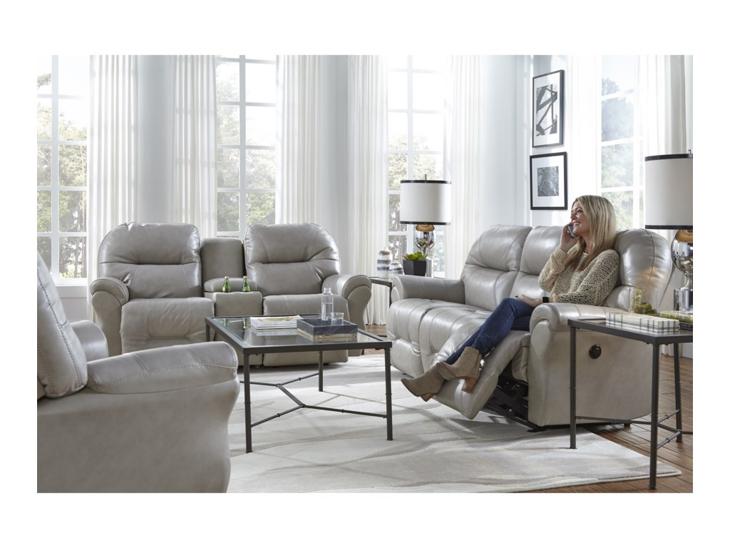 Best Home Furnishings BodieRocking Reclining Loveseat w/ Console